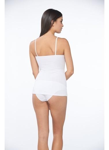 Sevim  Dantelli Kadın Bluz Beyaz